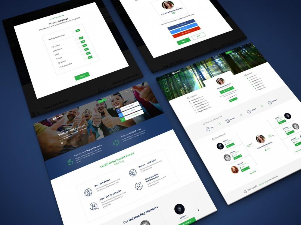 Branding, UX/UI Design for Certi.fi